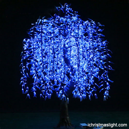 Blue Led Willow Tree Christmas Decorations IChristmasLight