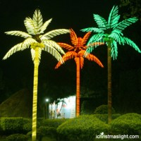 Outdoor landscape LED lighted palm tree | iChristmasLight