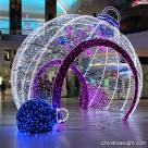 Decorative big 3D LED Christmas light balls