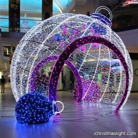 Decorative big 3D LED Christmas light balls