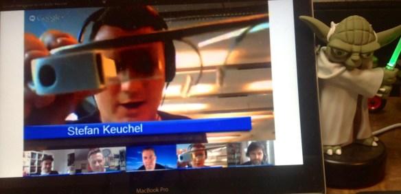 Hangouts über Google Glass starten