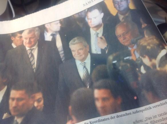 Gauck probiert Außen- und Sicherheitspolitik