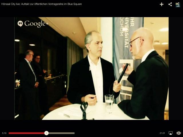 Kai Rüsberg im Gespräch mit Uni-Rektor Elmar Weiler