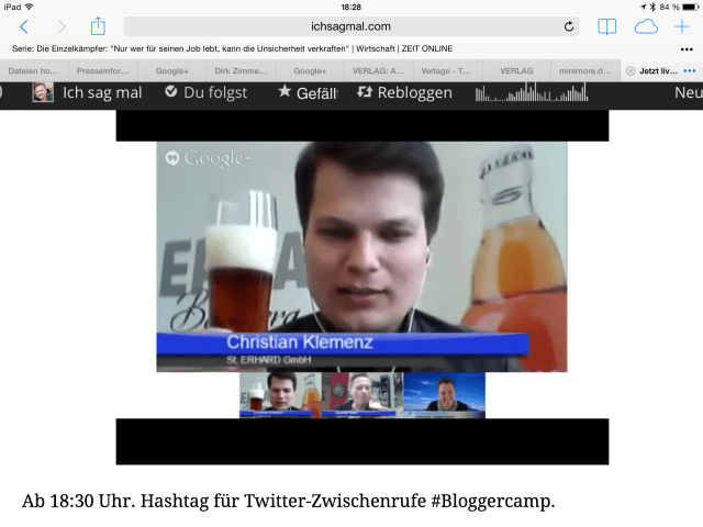 Livestreaming mit Alkohol