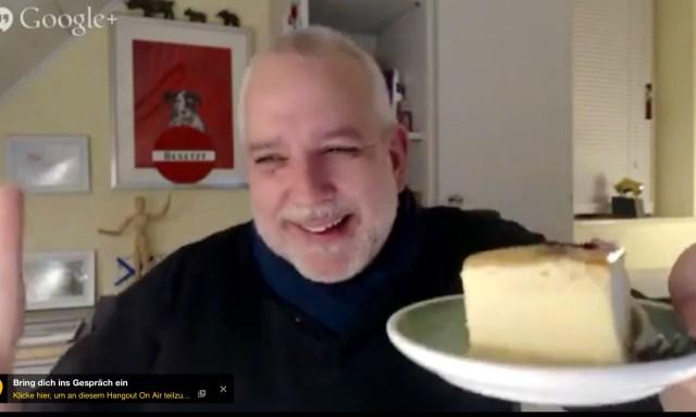 Netzökonomie-Diskurs mit Käsekuchen. Selbstversorger Frank Michna.