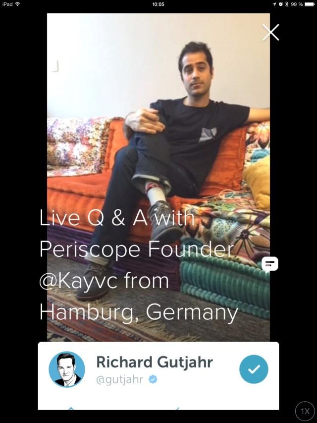 Periscope-Mitgründer Kayvon Beykpour im Interview mit Richard Gutjahr