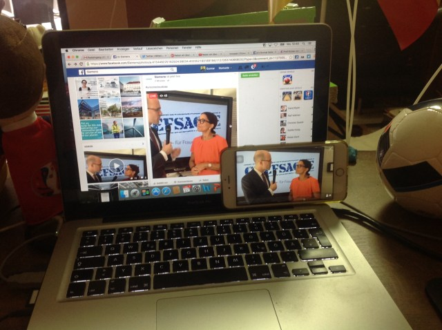 Doppel-Livestream von Siemens mit Periscope und Facebook Live