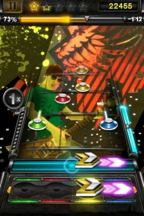 Guitar Hero iPhone - Screenshot