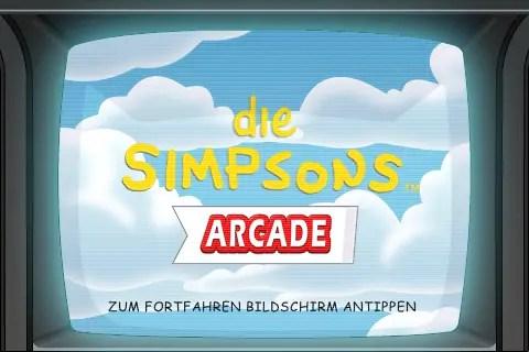 The Simpsons Arcade - Splashscreen