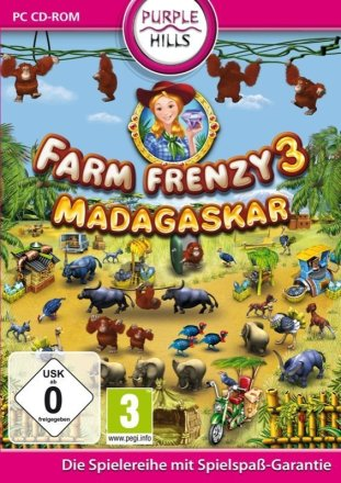 Farm Frenzy 3: Madagaskar - Cover PC