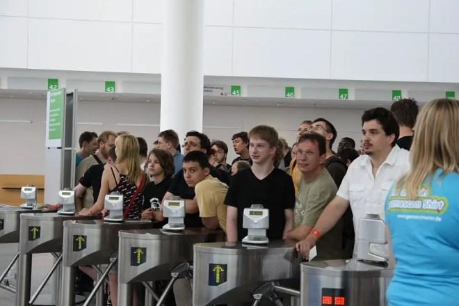 GamesCom 2009: Besucherandrang, Foto: Frederic Schneider