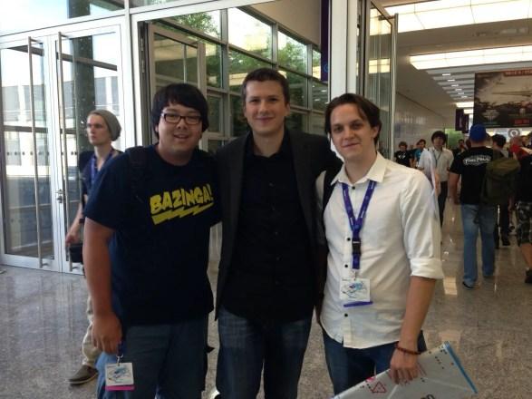 GamesCom 2013: Riot Jatt (Mitte) - Shoutcaster bei League of Legends.