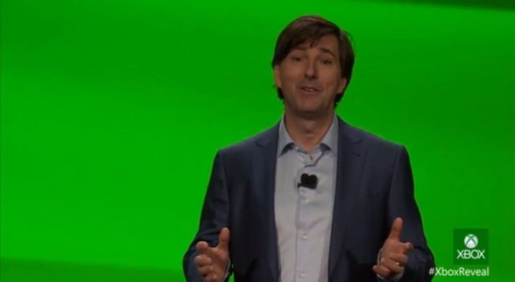 Don Mattrick auf dem Xbox Reveal Event