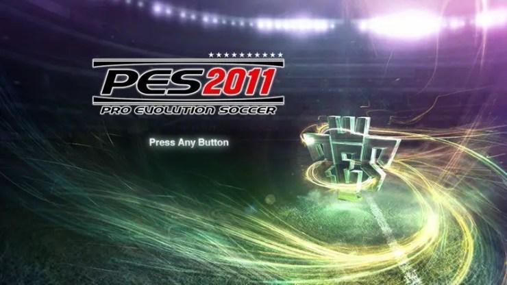 PES 2011 - Titelbildschirm