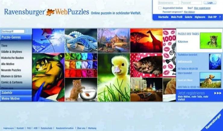 Ravensburger Webpuzzles - Screenshot