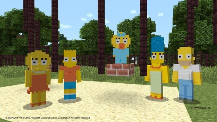 Simpsons-Skins für Minecraft
