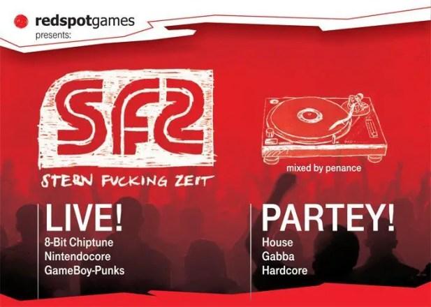 Stern Fucking Zeit - Flyer GamesCom 2010