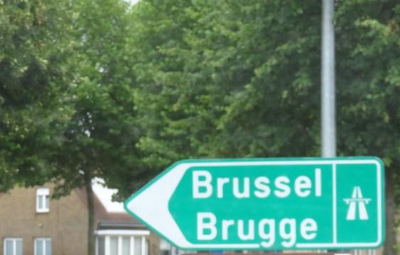 Rückfahrt - und Brüssel am Donnerstagmittag kostet uns eine Stunde.
