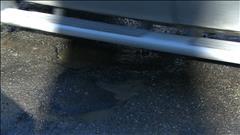Des routes endommagées