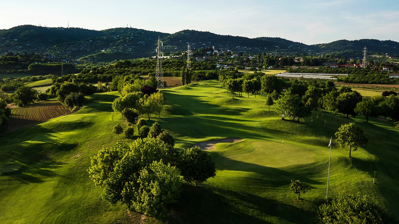 Veduta aerea campo da golf