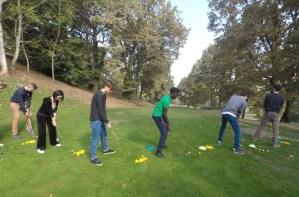 giovani in campo golf