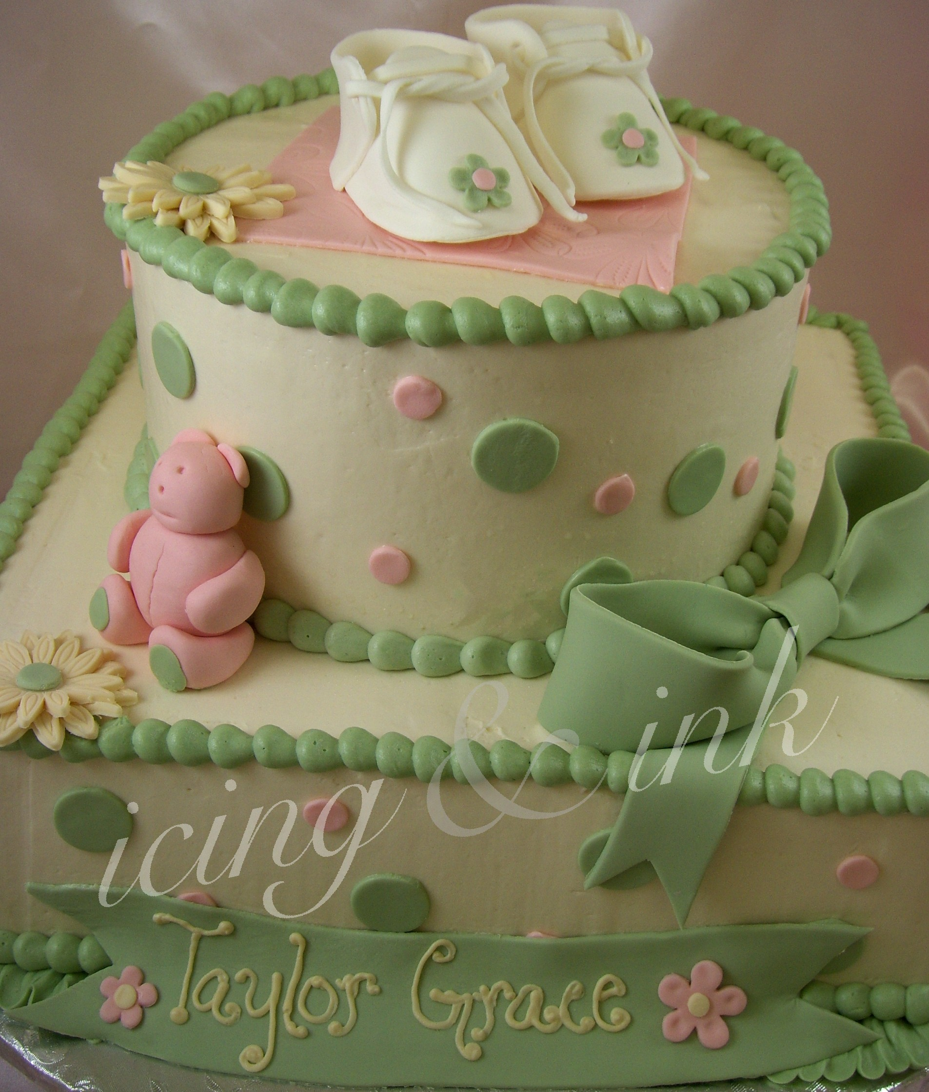 Baby Shower Cakes  icing and ink blog