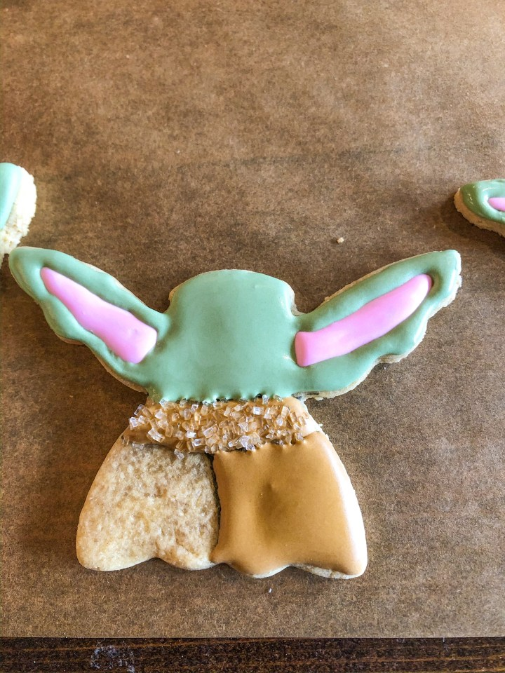 baby yoda sugar cookies