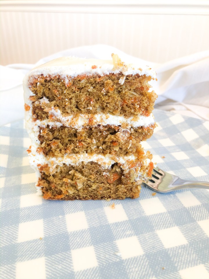 Coconut Carrot Cake with Cream Cheese Frosting
