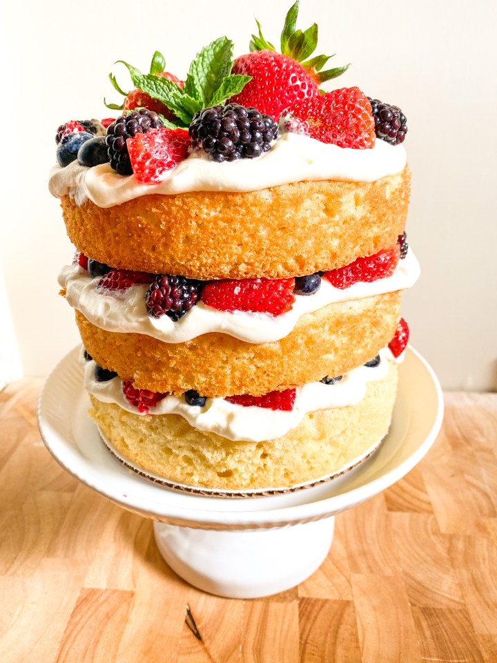 Cream cheese Chantilly Cake