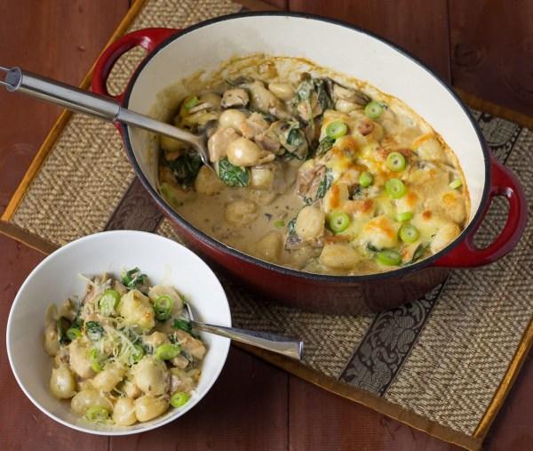 Baked Chicken & Gnocchi Boscaiola