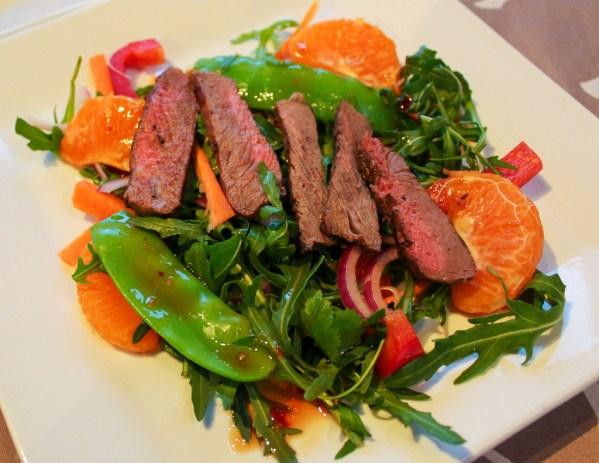 BBQ Thai Beef Mandarin Salad