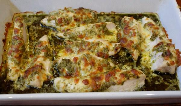 Baked Pesto Chicken