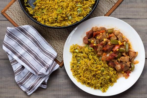 Cajun Pork Stew With Dirty Rice
