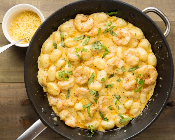 Garlic Prawns & Gnocchi In A Creamy Parmesan Sauce