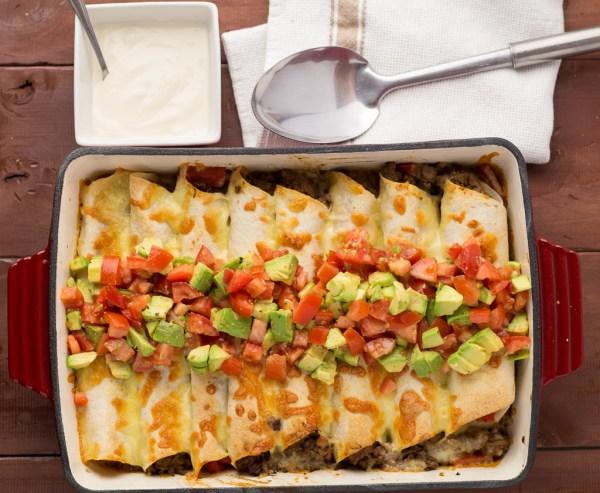 Easy Beef Enchilada Bake