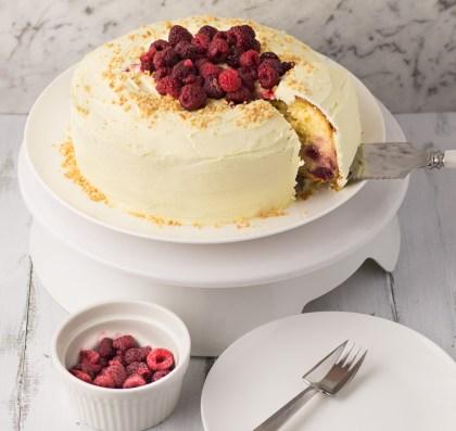 White Chocolate & Raspberry Mud Cake