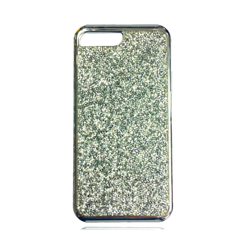 Dual Layer Glitter and Rubber Case SILVER - iPhone 8 / 7 / 6S / 6 1