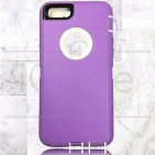 Picture of Defender Hybrid Case w/Clip (Purple/White) - iPhone 6 Plus / 6S Plus
