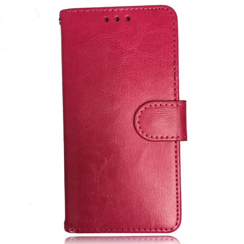 iPhone X/XS Leather Wallet Flip Case Pink 1