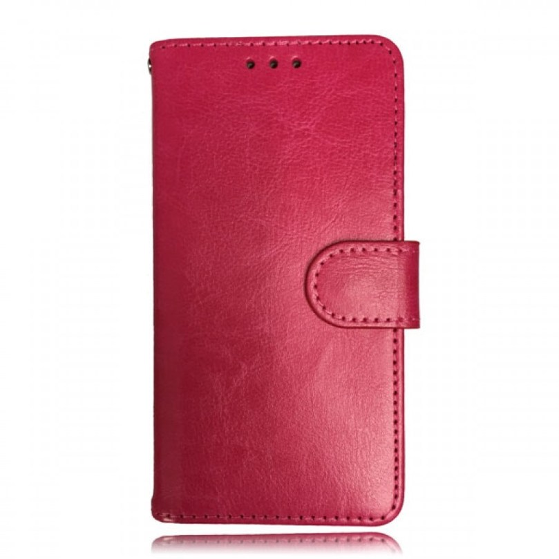 iPhone X/XS Leather Wallet Flip Case Red 1