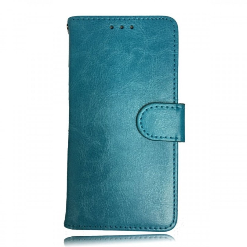 iPhone X/XS Leather Wallet Flip Case Teal 1