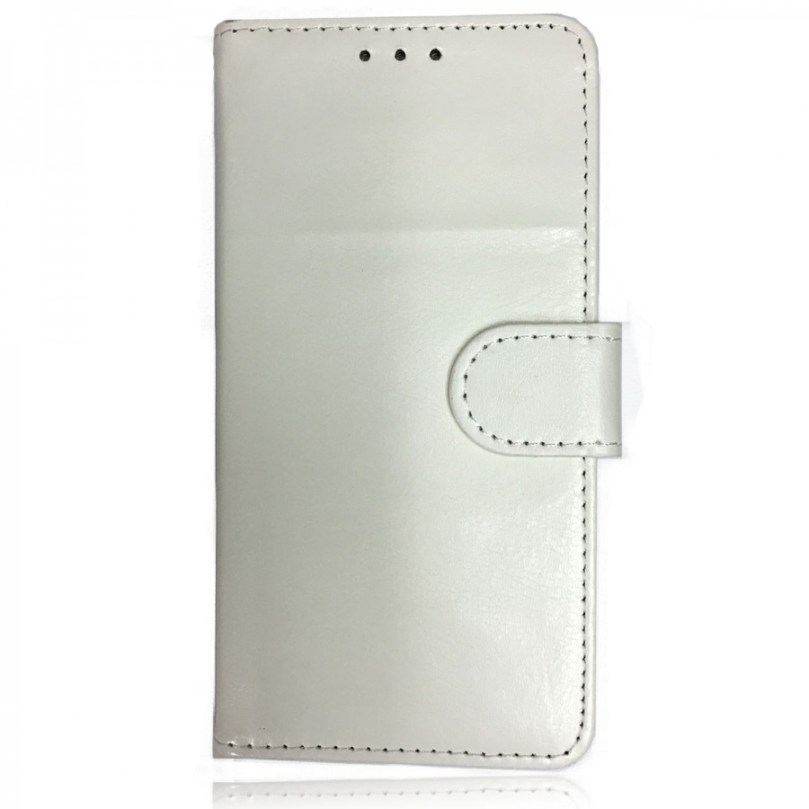 iPhone X/XS Leather Wallet Flip Case White 1