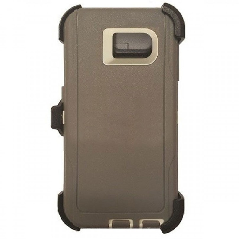 Defender Hybrid Case w/ Clip (Gray/White) - Galaxy S6 1
