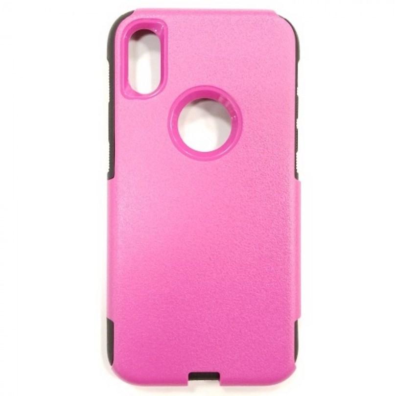 iPhone X/Xs Hybrid Case HOT PINK/BLACK 1