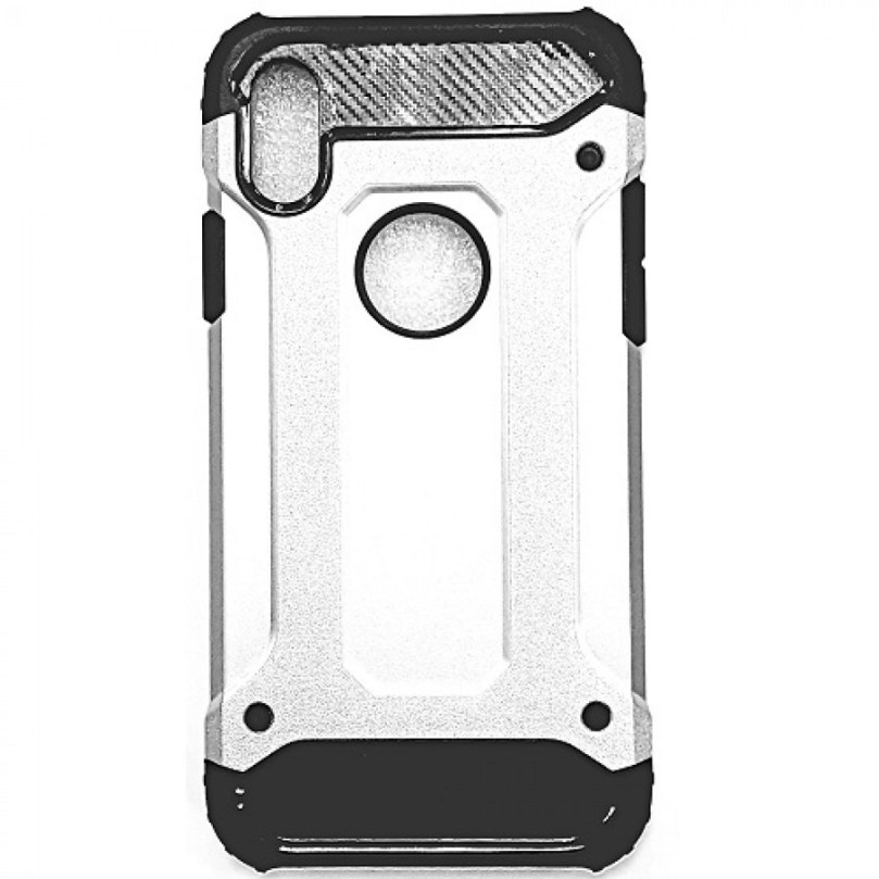 iPhone X/XS Armor Style Case Silver 1