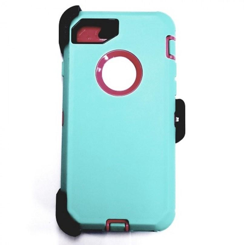iPhone X/Xs Heavy Duty Case w/ Clip WATER BLUE/ PINK 1