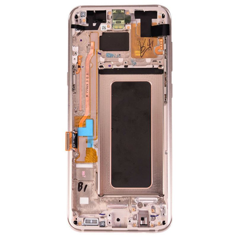 LCD Screen Touch Screen Digitizer Frame Gold For Samsung Galaxy S8 Plus 3