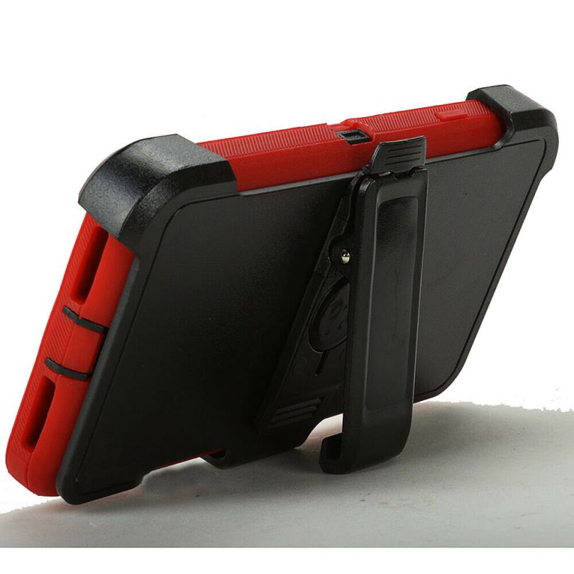iPhone 6/6s Heavy Duty Case w/Clip RED/BLACK 2