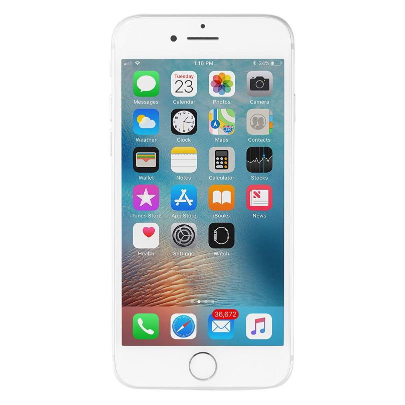 iPhone 7 - 256GB Fully Unlocked - Silver (Renewed) 1