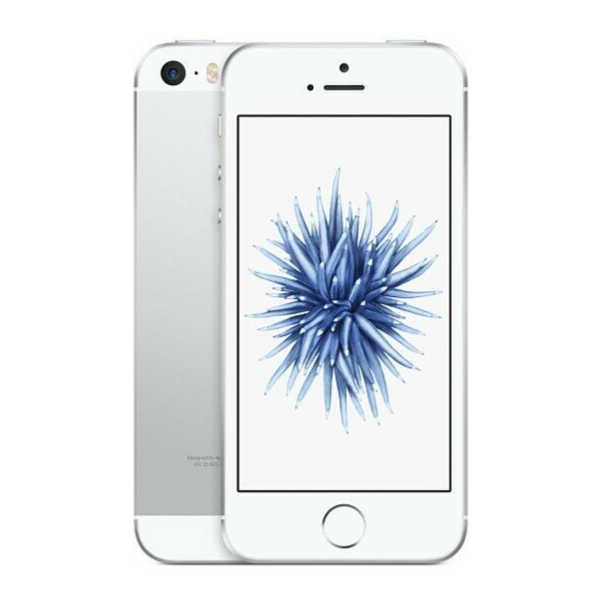 iPhone SE - 32GB Fully Unlocked - Silver (Renewed) 1